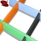 Abrir a peso ligero del techo de la red del metal del rectángulo de la célula para los azulejos decorativos del techo