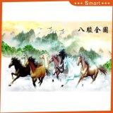 Ocho la pintura al óleo china impresa de los caballos Digitaces para la decoración casera