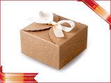 Pastel caja de embalaje de papel plegado de la Caja con ventana transparente
