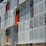 Façade décorative extérieure en aluminium mur rideau en métal perforé