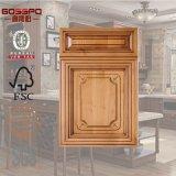ヨーロッパ式の切り分けられた木製のパネルの食器棚のドア(GSP5-020)