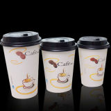 café disponible de las tazas de papel 7oz/tazas de papel del té impresas