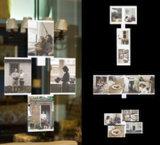 """Leggyhorse8"""" X 10"""" de acrílico transparente flexible marco de fotos, marcos desmontable para cambiar fácilmente la forma, color blanco/negro, el conjunto de bastidor de 4"""