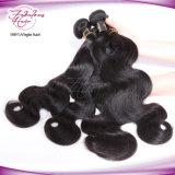 Plein de cheveux humains péruvien de la cuticule de Tissage de cheveux vierge