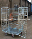 Jaula bloqueable del almacenaje del metal, jaulas de acero del almacenaje con las ruedas, jaula plegable del almacenaje