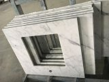 Da vaidade de mármore do banheiro de Bianco Carrara bancadas de mármore brancas superiores