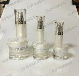 真珠の白いアクリルの装飾的な包装のクリーム色の瓶のローションのびん(PPC-NEW-034)