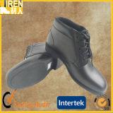 Schwarze echtes Leder-heiße Verkaufs-Militärpolizei-Büro-Schuhe
