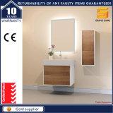 Melamin-schwarzer Lack MDF-Badezimmer-Eitelkeits-Schrank mit LED-Spiegel