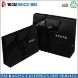 Silberne Firmenzeichen-Schwarz-Papier-Einkaufstasche, die verpackenbeutel kleidet
