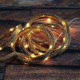 La calidad garantizó la luz decorativa de la cuerda del cáñamo LED