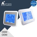 Estação meteorológica digital Relógio de retorno LED azul com temperatura de umidade