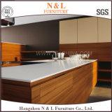 Armadio da cucina di legno della mobilia della casa dell'impiallacciatura lucentezza di lusso di disegno di alta