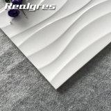 Ola de cerámica esmaltada de interior liso blanco azulejos, baldosas cerámicas mayorista 300X600