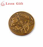 Kundenspezifische Antike-Goldmilitär-Herausforderungs-Andenken-Münzen des Metall3d