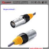 Conector impermeável RJ45 com LED e transformador Cae 5e