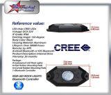 4/6/8/12のポッドLEDの石ライトキットRGBカラー可変性のBluetooth制御音楽フラッシュオフロードLED石ライト