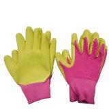 Guanto di giardinaggio variopinto del lavoro ricoperto palma della gomma spugna dei guanti dei bambini