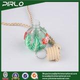 bottiglia Pendant del profumo di vetro rotondo 12ml con bottiglia di profumo cosmetica della superficie dell'argilla del polimero la piccola con la protezione di legno