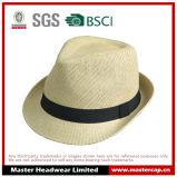 白紙のわらのソフト帽の帽子