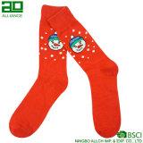 Оптовые изготовленный на заказ носки экипажа рождества хлопка