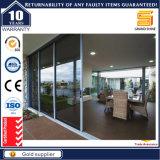 Алюминий Австралии As2047 стандартный двойной застекленный сползая дверь Tempered стекла