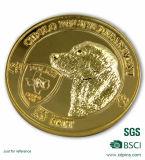 Vecchia moneta del nastro di modo per la moneta di vecchio oro del metallo di figura rotonda della moneta del metallo del ricordo