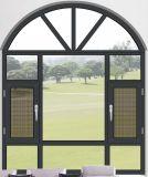 Tissu pour rideaux en bois composé en aluminium Windows