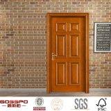 Neuer Entwurfs-hölzerne Innenmahagonitür mit dem Schnitzen (GSP2-043)