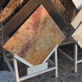 Retro mattonelle gialle egiziane di pietra del marmo della lastra per il pavimento