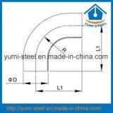 45° /90° /180° Soldada/presa/Union-Type Cotovelo com extremidades Reta
