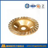 Roda dourada do copo do diamante para a pedra/mármore de moedura