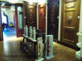 Porte en bois solide de qualité classique de type avec la couleur blanche pour l'école d'appartement d'hôtel (DS-046)