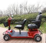 Scooter de mobilidade elétrica de dois assentos com luz LED