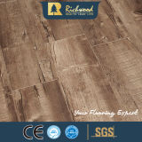 Panneau de vinyle 12.3mm HDF Walnut Sound Absorving Laminate Wood Flooring