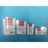 Водоустойчивые владельцы карточки удостоверения личности значка названной бирки PVC ясные пластичные вертикальные