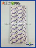 Paja de papel Heated púrpura de la decoración de la fuente del banquete de boda