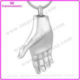 Ijd9715 Halsband van de Tegenhanger van de Crematie van de Herinnering van de Verpersoonlijking van de Houder van de Herinnering van de As van de Vorm van de Hand de Herdenkings