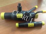Шариковый клапан сварки API 6D Wpb/Ss304 RF/Bw полный с рукояткой или шестерней работал