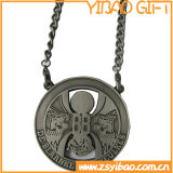 주문 로고 금속 사슬 (YB-MD-09)를 가진 반대로 은 스포츠 메달