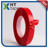 Double bande rouge dégrossie adhésive acrylique d'animal familier de film