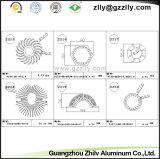 De Uitdrijving Heatsink van het Profiel van het Aluminium van de Buis van de cirkel