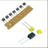 Destaque 5 milímetros Mini Box Tipo Metallzied Polyester Film Capacitor Tmcf07