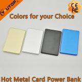 공장 주문 로고 금속 카드 힘 은행 2600mAh
