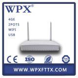 Gpon/Epon 4ge WiFi ONU para la red de FTTH