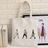 個人化された女性または女の子のハンドバッグの美しいフクロウによって印刷されるキャンバスのショッピングトートバック