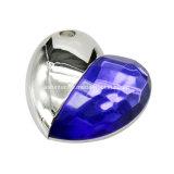 Cristal USB Pendrive de diamant de disque de flash USB de forme de coeur