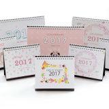 2017 Caricatura elegante diseño personalizado de impresión de calendarios de escritorio