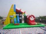 Tobogán inflable con piscina
