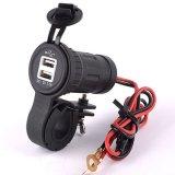 3.1A удваивают заряжатель силы автомобиля мотоцикла USB